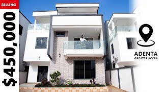 Inside a $450,000 Modern House with 2 living room and 2 Kitchen in Accra   Doksimon House Tour