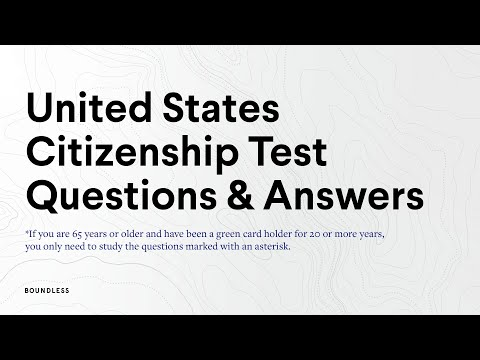 2021 U.S. Citizenship Test Questions and Answers - Complete List ...