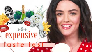 Lucy Hale Chews Her Gum So Loud, This is Basically an ASMR Video | Expensive Taste Test | Cosmo