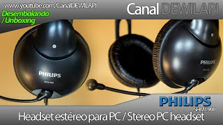 Philips SHM1900/00 headset - Desembalando e impressões | Unboxing & review (Ótimo Custo Beneficio)