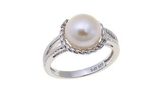 Imperial Pearls 910mm Cultured Pearl Split Shank Ring