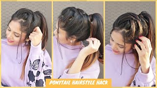 Easy Voluminous Ponytail Hairstyle/Easy Ponytail Hairstyle Trick For School,College