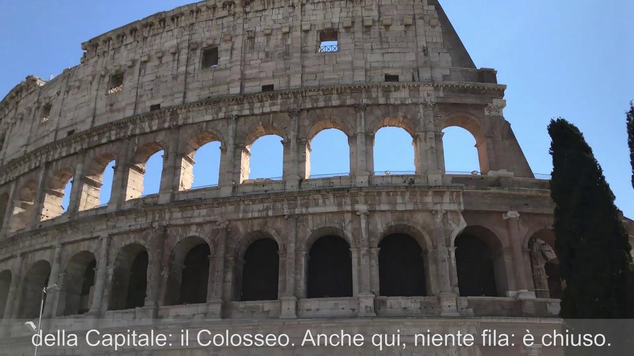 In giro per una Roma deserta per l'emergenza Coronavirus