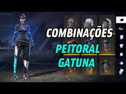 COMBINAES DE ROUPAS NO FREE FIRE COM PEITORAL GATUNO - S COMBINAES TOP