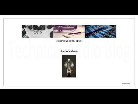 Audio Valvole