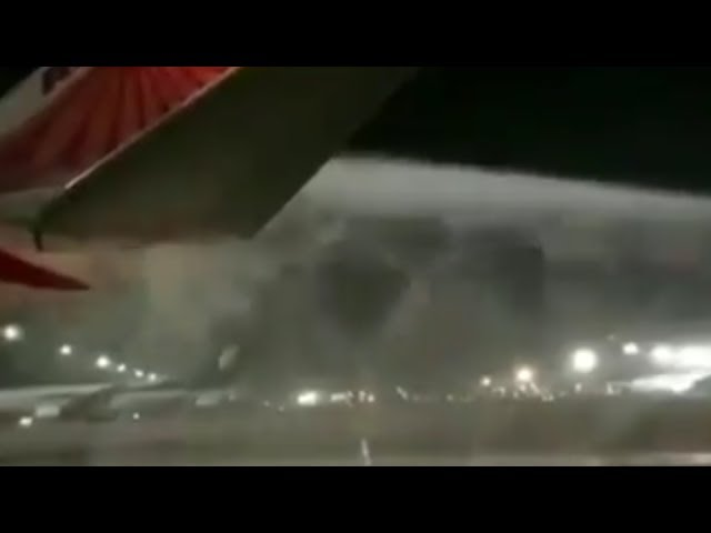 Air India flight Delhi to San Francisco catches fire at Delhi Airport