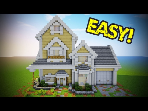 Minecraft How To Build A Small Modern House Tutorial 16 Video Blog