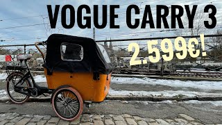 Vogue Carry 3 - 2.599€ für ein Cargobike mit Mittelmotor...nur billig oder auch gut?