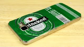 diy phone case life hack with soda can