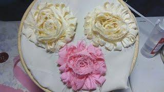 Flor Shabby Paso A Paso/ Fabric Flowers, Shabby Shic Tutorials , Creaciones, Flores De Tela , Myme