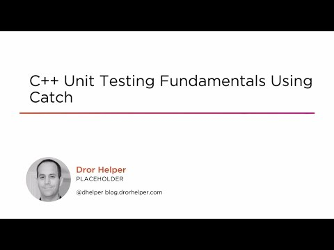 Course Preview: C++ Unit Testing Fundamentals Using Catch ...