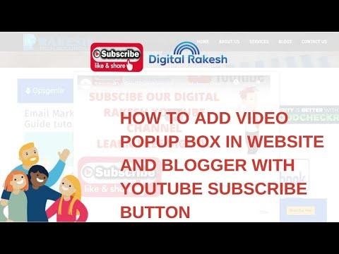 How to add video popup box in website and blogger with youtube subscribe button 2020