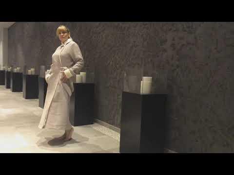 Designer Luxus Morgenmantel Waffelpique Saunamantel Kapuze BIO Frottier VONNESLHO Damen & Herren