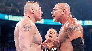 Brock Lesnar and Goldberg shared the ring for some of the most epic showdowns in WWE history. Relive all of them! WWE Network | Subscribe now: http://wwe.yt/wwenetwork