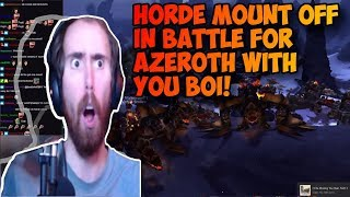 Asmongold Horde Mount Off! Second in the History of wow BFA!