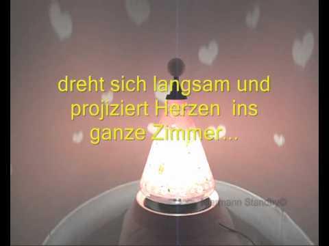 Niermann Magische Laterne - Kinder -Tischlampe MARGERITEN projiziert Herzen ins Kinderzimmer