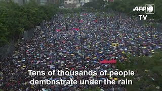 Tens Of Thousands Join Hong Kong March To Show Protest Is 'peaceful'