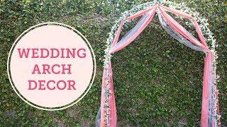 DIY Wedding Arch Decoration | BalsaCircle.com