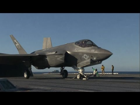 F-35C Lightning II Conducts Developmental Testing aboard USS Nimitz