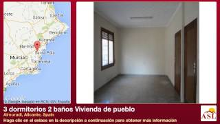 preview picture of video '3 dormitorios 2 baños Vivienda de pueblo se Vende en Almoradi, Alicante, Spain'