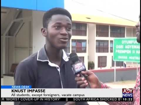 All Students, Except Foreigners, Vacate Campus - News Desk on JoyNews (24-10-18)