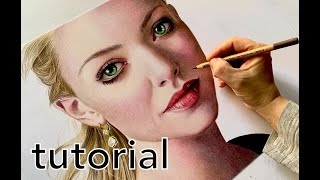How To Draw Realistic Skin With Colored Pencils - EASY TUTORIAL