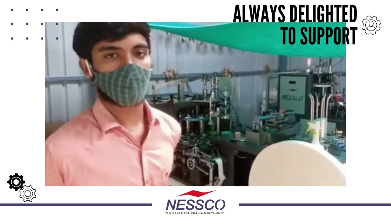 Paper cup making machine by Nessco   Customer feedback