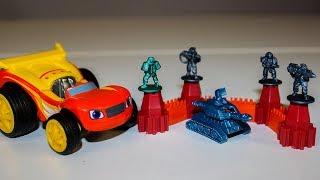 Вспыш и чудо машинки и Игрушки Киндер Сюрпризы Звёздные Танки Видео для детей про машинки