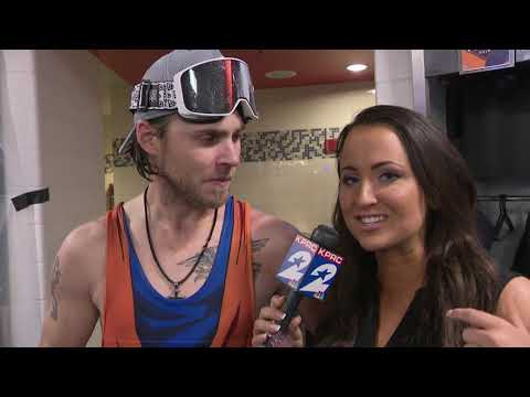 Vanessa interviews Josh Reddick after game
