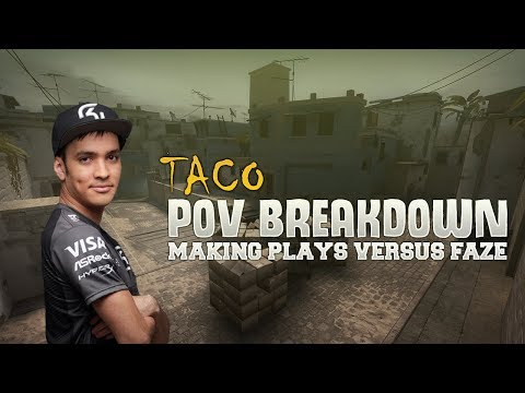 POV Breakdown -  TACO Making Plays vs Faze on Mirage (Grand Final at ESL Pro League)