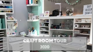 2020 Craft Room Tour - Pt 1 \ Ikea Craft Room Update \ Craft Room Organisation & Storage