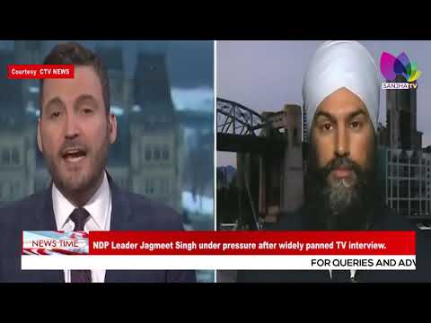 NDP Leader Jagmeet Singh Under Pressure After Widely Panned TV Interview