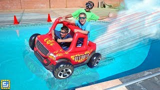 Will the Giant Floating Inflatable RC Car Drive over The Water?