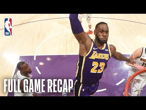 NUGGETS vs LAKERS | LeBron James Moves Into 4th On All-Time Scoring List | March 6, 2019
