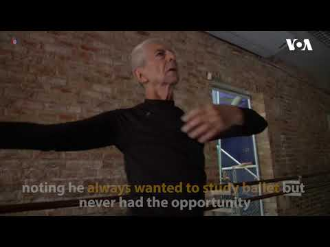 Elderly man finds renewal in ballet lessons