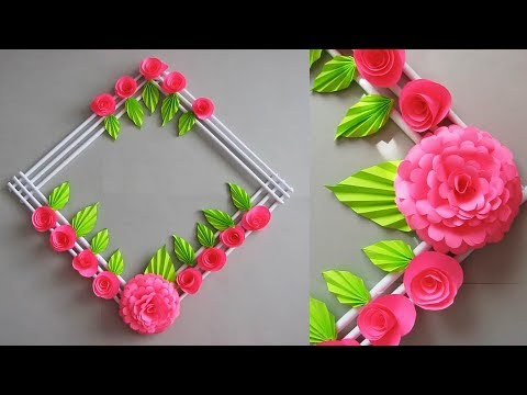 DIY. Simple Home Decor. Wall, Door Decoration. Цветы из бумаги. Paper Craft Ideas # 15