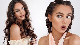 HEATLESS Curls Overnight ❤︎ Summer Mermaid Hair Tutorial | Jackie Wyers