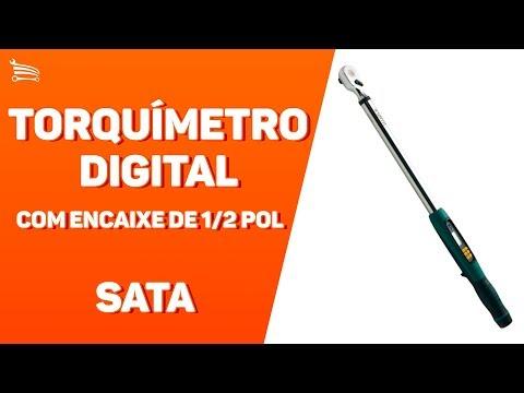 Torquímetro Digital 68 á 340 Nm com Encaixe de 1/2 Pol. - Video