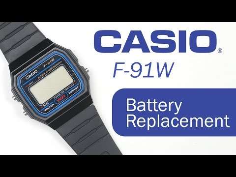 How To Replace The Battery of Casio F-91W Watch - Easy Tutorial