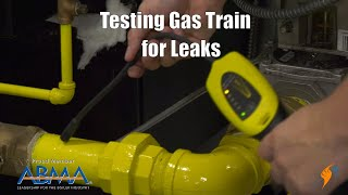 Checking Gas Train for Leaks on a Steam Boiler
