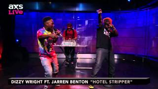 "Dizzy Wright Performs ""Hotel Stripper"" ft. Jarren Benton on AXS Live"