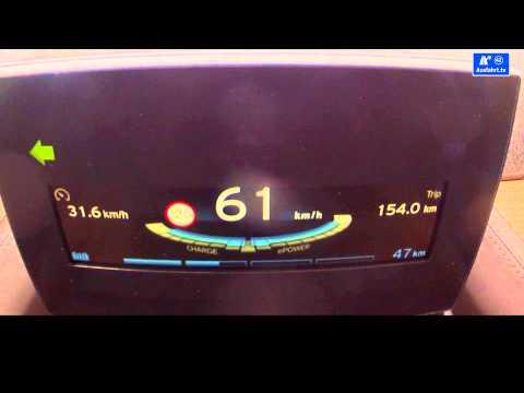 2014 BMW i3 0-130 kph / 0-80 mph acceleration