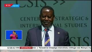 Raila Odinga akosoa marudio ya kura ya urais kwenye hotuba yake akiwa Washington DC