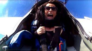 Her First Aerobatic Flight!