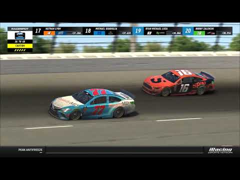 iRacing: Last-lap thrills at Indianapolis in playoff race: PEAK Antifreeze Series full race
