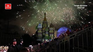 "Real Russia. Military music festival ""Spasskaya tower"". Fireworks. Спасская башня 2017. Салют."