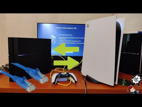 PLAYSTATION 5 Tutorial como pasar juegos y datos de PS4 a PS5 por cable ethernet