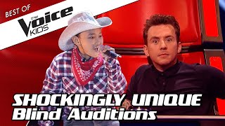 TOP 10 | UNIQUE and MEMORABLE Blind Auditions in The Voice Kids