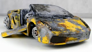 Restoration abandoned Lamborghini Gallardo Spyder tuning Model Car by Good Restore