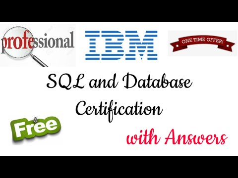 IBM Free SQL and Database Certification with Answers - YouTube
